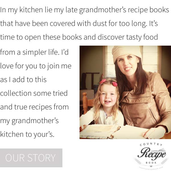 about country recipe book blurb