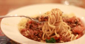 mushroom-bolognese-on-a-fork