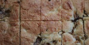 Apple Bar cut into squares
